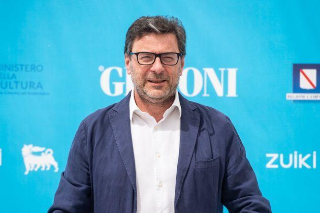GIFFONI VALLE PIANA, ITALY - JULY 30: Giancarlo Giorgetti attends the photocall at the Giffoni Film Festival 2021 on July 30, 2021 in Giffoni Valle Piana, Italy. (Photo by Ivan Romano/Getty Images) (Photo: Ivan Romano via Getty Images)