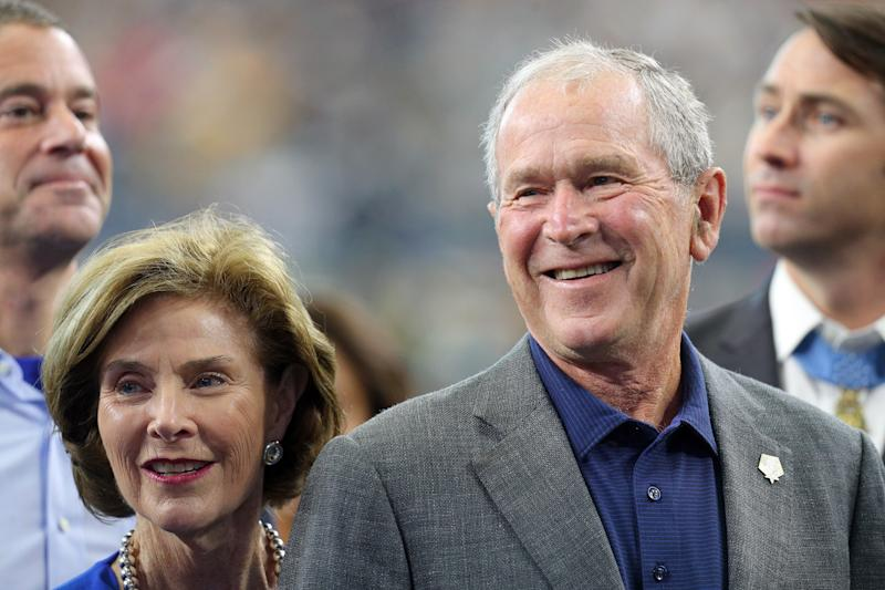 La exprimera dama, Laura Bush, y el expresidente, George W. Bush (Getty Images)