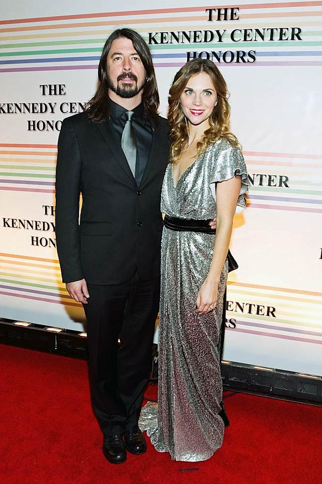 """The Foo Fighters' Dave Grohl, with wife Jordyn Blum, teamed up with Norah Jones to sing McCartney's hit, """"Maybe I'm Amazed."""" Paul Morigi/<a href=""""http://www.wireimage.com"""" target=""""new"""">WireImage.com</a> - December 5, 2010"""