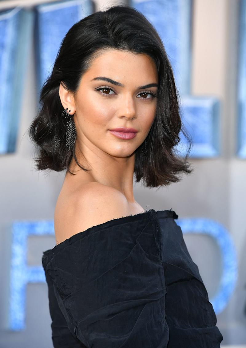 Reverting back to her tousled bob with a glossy, raspberry pink lip, Jenner attends the Valerian And The City Of A Thousand Planets Hollywood premiere.