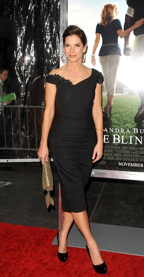 """<a href=""""http://movies.yahoo.com/movie/contributor/1800018970"""">Sandra Bullock</a> at the New York City premiere of <a href=""""http://movies.yahoo.com/movie/1810088176/info"""">The Blind Side</a> - 11/17/2009"""