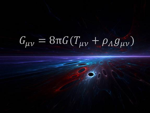 The equation for general relativity formulated by Albert Einstein.
