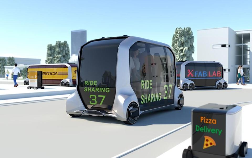 Toyota's e-Palette is a fully autonomous vehicle that the company says will serve as a mobile storefront.