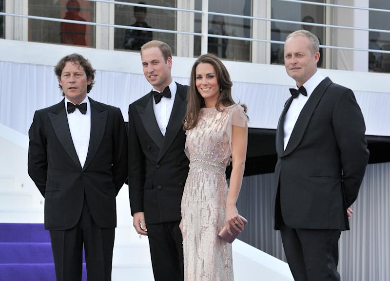 Arpad Busson, Prince William, Duke of Cambridge, Catherine, Duchess of Cambridge and Ian Wace attend the 10th Annual ARK gala dinner at Kensington Palace on June 9, 2011 in London, England.