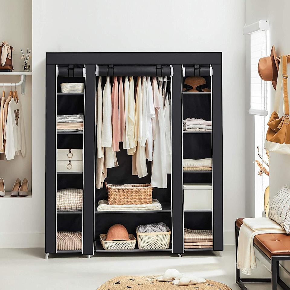 "<p>The <span>Songmics 59"" Closet Organizer Wardrobe </span> ($58, originally $65) is easy to put together.</p>"