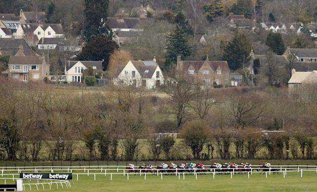 Horse Racing - Cheltenham Festival - Cheltenham Racecourse, Cheltenham, Britain - March 14, 2018 General view during the 14:50 Coral Cup Handicap Hurdle Action Images via Reuters/Andrew Boyers