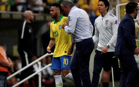 <span>Neymar injured his ankle playing for Brazil in the Copa America</span> <span>Credit: Reuters </span>