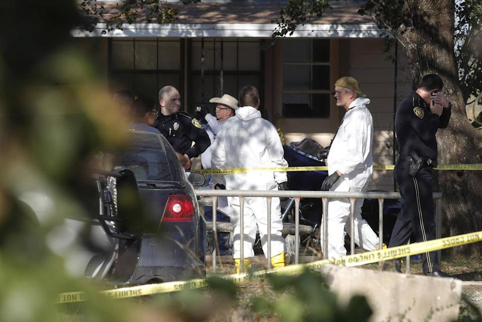Investigators are still clearing the crime scene at the First Baptist Church: Getty