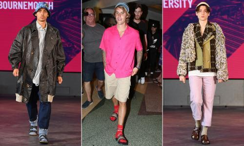 Blend it like Beckham! How the socks and sandals combo became cool