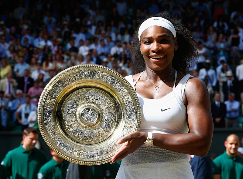 Serena williams has officially won the most matches at a major