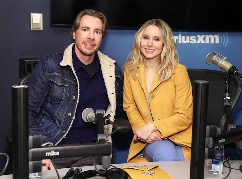 NEW YORK, NY - FEBRUARY 25: Actors Dax Shepard and Kristen Bell visit the SiriusXM Studios on February 25, 2019 in New York City. (Photo by Cindy Ord/Getty Images)
