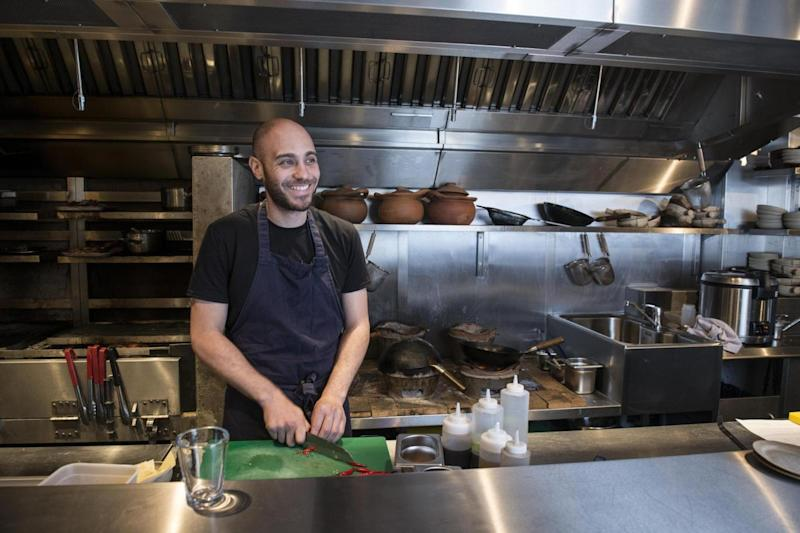 Self-taught excellence: Ben Chapman in his kitchen at Kiln (Daniel Hambury/Stella Pictures)