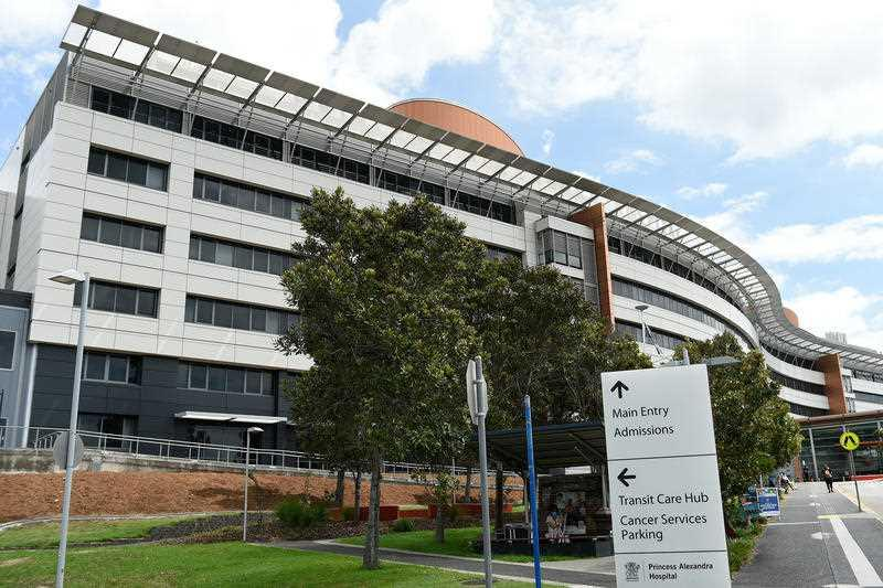 A general view is seen of Princess Alexandra Hospital in Brisbane.