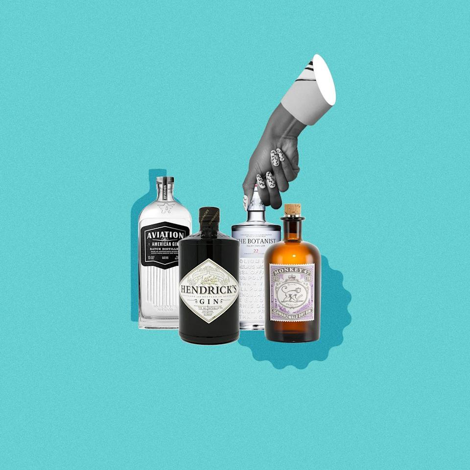 """<p>For those unfamiliar with drinking gin, it could be an intimidating liquor to get into. Due to its complex flavors (most are made with <em>at least</em> 10 botanicals), it's not as often mixed into fruity drinks like, say, <a href=""""https://www.delish.com/entertaining/g31213317/best-vodka-brands/"""" rel=""""nofollow noopener"""" target=""""_blank"""" data-ylk=""""slk:vodka"""" class=""""link rapid-noclick-resp"""">vodka</a> or <a href=""""https://www.delish.com/entertaining/g32009640/best-rum-brands/"""" rel=""""nofollow noopener"""" target=""""_blank"""" data-ylk=""""slk:rum"""" class=""""link rapid-noclick-resp"""">rum</a>. Gin can be enjoyed on the rocks or straight, and is most commonly mixed with tonic water, soda water, or ginger ale. These mixers are neutral enough in taste that you can still enjoy the unique flavor of the liquor while adding carbonation that can ease the bite of each sip. It can also be made in a martini with vermouth, if that's more your style. </p><p>When it comes to deciding what gin to pick there are tons of options, but here are some of the 11 best bottles for beginners and gin lovers alike.</p>"""