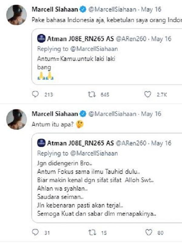 Marcell Siahaan (Foto: Twitter)