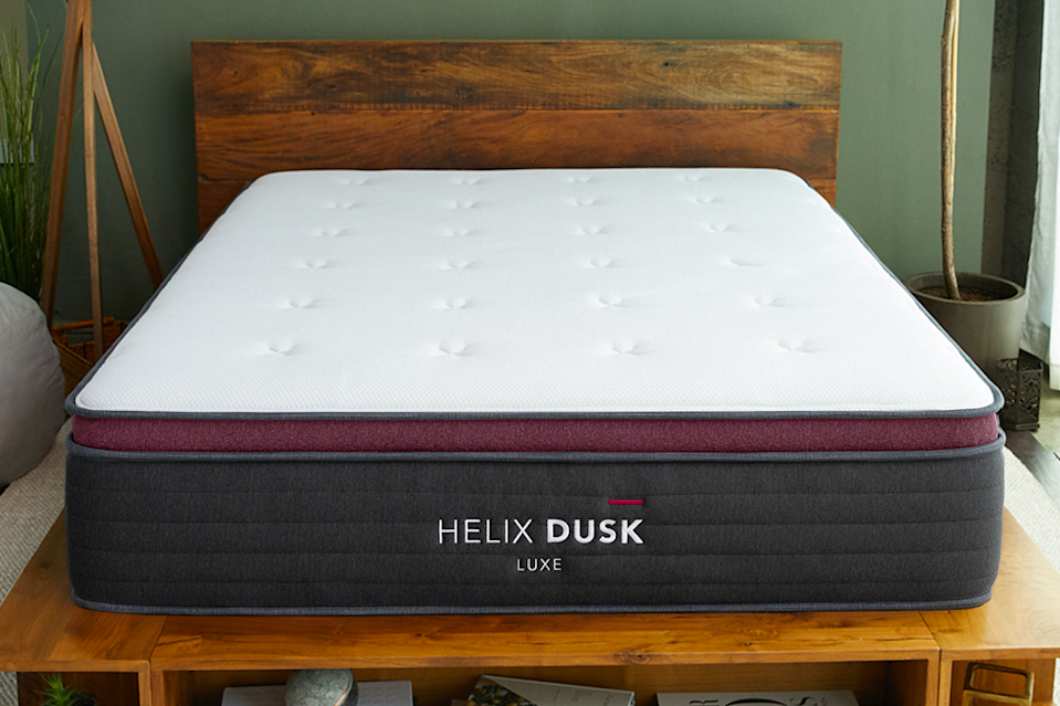 """<p><strong>Helix</strong></p><p>helixsleep.com</p><p><strong>$995.00</strong></p><p><a href=""""https://go.redirectingat.com?id=74968X1596630&url=https%3A%2F%2Fhelixsleep.com%2Fcollections%2Fmattresses&sref=https%3A%2F%2Fwww.goodhousekeeping.com%2Fhome-products%2Fg4138%2Fbest-mattress-in-a-box%2F"""" rel=""""nofollow noopener"""" target=""""_blank"""" data-ylk=""""slk:Shop Now"""" class=""""link rapid-noclick-resp"""">Shop Now</a></p><p>You (and your sleeping partner) fill out a quiz about your body and sleep habits, and <strong>Helix gives you a personalized match for your ideal mattress</strong>. There are soft, medium, and firm options, plus picks for plus-size and tall body types as well as split firmness for when couples have different needs. </p><p>The brand got high ratings from our panel for comfort and overall satisfaction, and they said it was super easy to order and set up. One person even told us she's had a hard time sleeping on other beds since getting this one at home. </p><p>We received a few one-off callouts like a long break-in period before it got comfy and concerns about indents with long-term use, but there weren't consistent complaints. </p><p><strong>Trial period</strong>: 100 days, but the brand makes you keep it for at least 30 days to give it a real chance.</p>"""