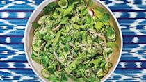 """<a href=""""https://www.bonappetit.com/recipe/cucumber-and-onion-salad?mbid=synd_yahoo_rss"""" rel=""""nofollow noopener"""" target=""""_blank"""" data-ylk=""""slk:See recipe."""" class=""""link rapid-noclick-resp"""">See recipe.</a>"""