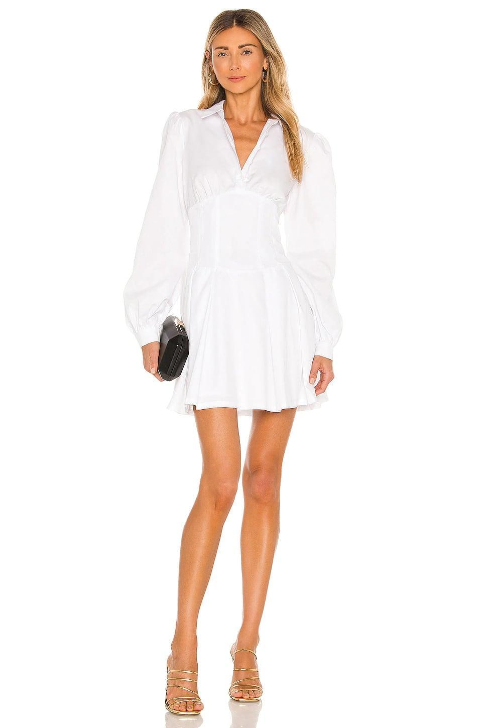 <p>This <span>Bardot Maya Poplin Shirt Dress</span> ($119) is fitted with a corset-like style at the waist. It's so flattering, and we want to wear this everywhere.</p>
