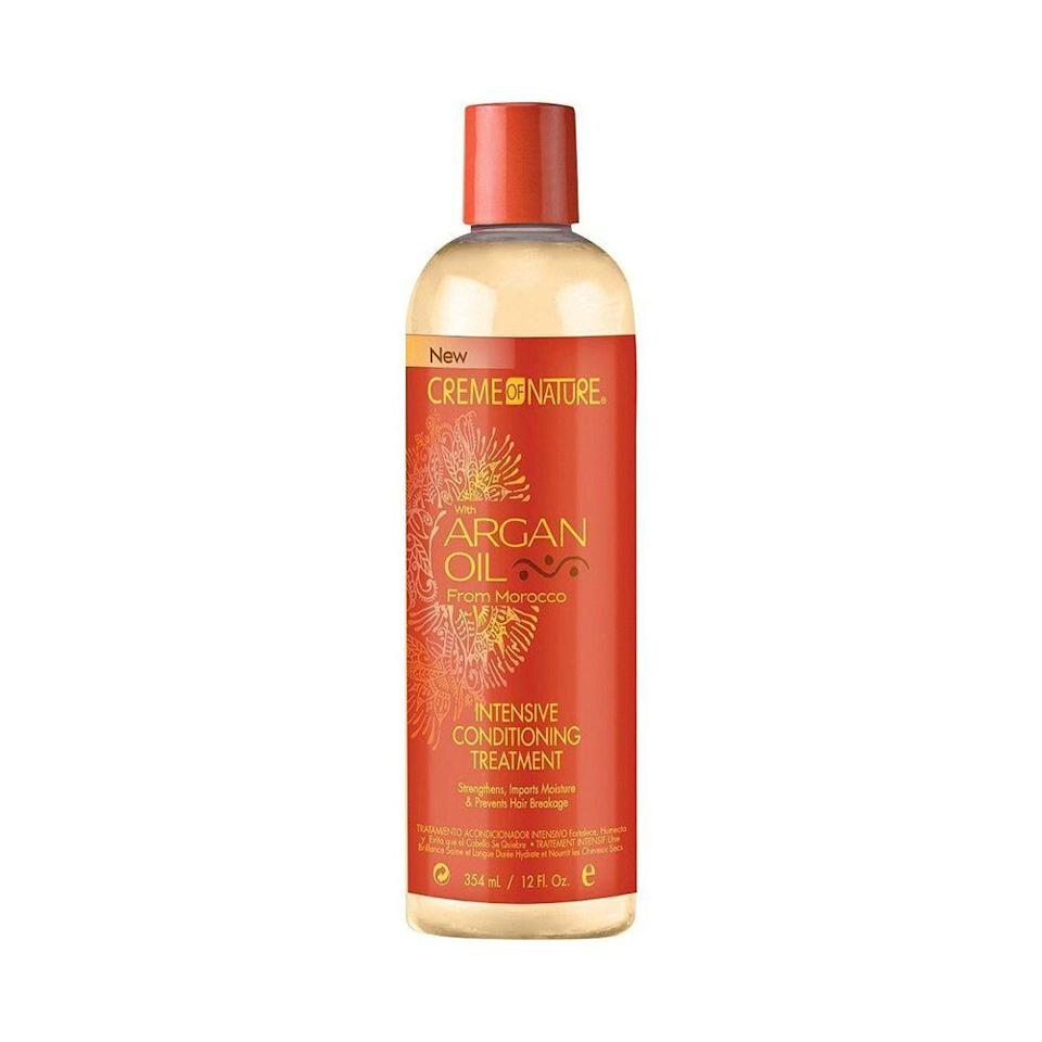 """<p><strong>Creme of Nature</strong></p><p>target.com</p><p><strong>$4.99</strong></p><p><a href=""""https://www.target.com/p/creme-of-nature-argan-oil-intensive-conditioning-treatment-12-oz/-/A-14382655"""" rel=""""nofollow noopener"""" target=""""_blank"""" data-ylk=""""slk:Shop Now"""" class=""""link rapid-noclick-resp"""">Shop Now</a></p><p>With argan oil being the key ingredient of this deep conditioning treatment you can trust that it'll leave your hair soft with long-lasting moisture that helps prevent breakage and dry hair. </p>"""