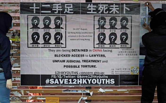 Lu Siwei represented one of 12 Hong Kong activists who tried to flee to Taiwan - AP