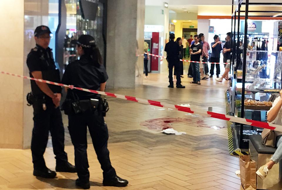 Aman Demoz Solomon, a 35-year-old US citizen, died after falling five storeys inside Ngee Ann City on 14 July, 2019. (PHOTO: Vernon Lee/Yahoo News Singapore)