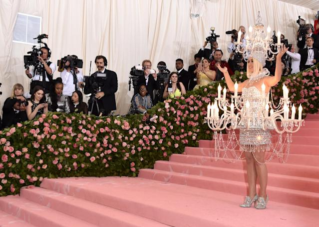 Katy Perry isn't afraid of an elaborate costume. (Getty Images)