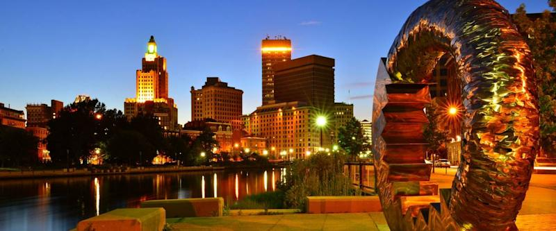 PROVIDENCE, RI - JULY 6 : Providence, RI Skyline on july 6th, 2013. It is the capital and most populous city in Rhode Island and was one of the first cities established in the United States.