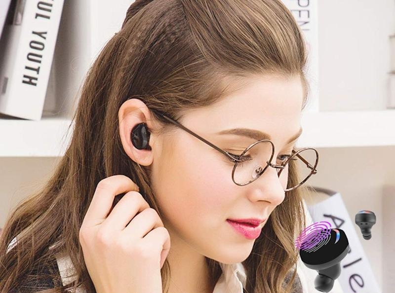 Edyell Wireless Earbuds are on sale for nearly 80 percent off. (Photo: Amazon)