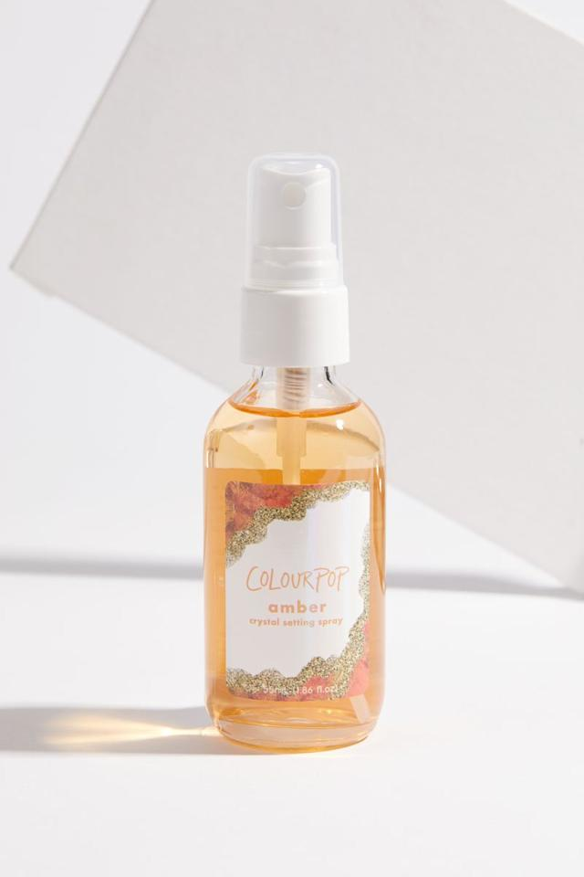 "<p>Infused with amber crystal, vitamin C, and mango flower, this triple-duty spray helps to firm, brighten, and refresh skin. $6, <a rel=""nofollow"" href=""https://colourpop.com/products/amber"">colourpop.com</a> (Photo: ColourPop) </p>"
