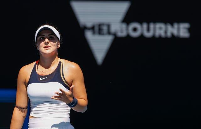 Bianca Andreescu was unable to find a way past the tricky Hsieh Su-wei