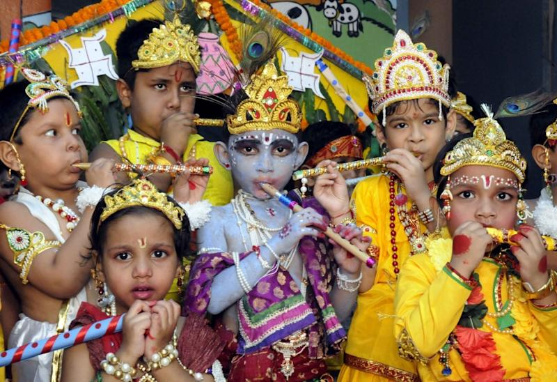 Janmashtami celebrations at ISKCON temple in Mumbai