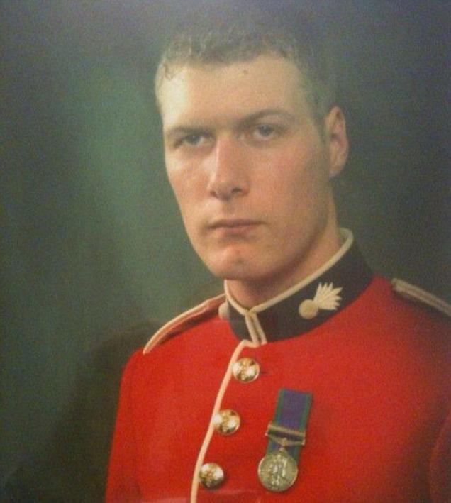 Mr Wardle, pictured here during his time in the Army, now works as a bartender at Halfway 2 Heaven in Trafalgar Square