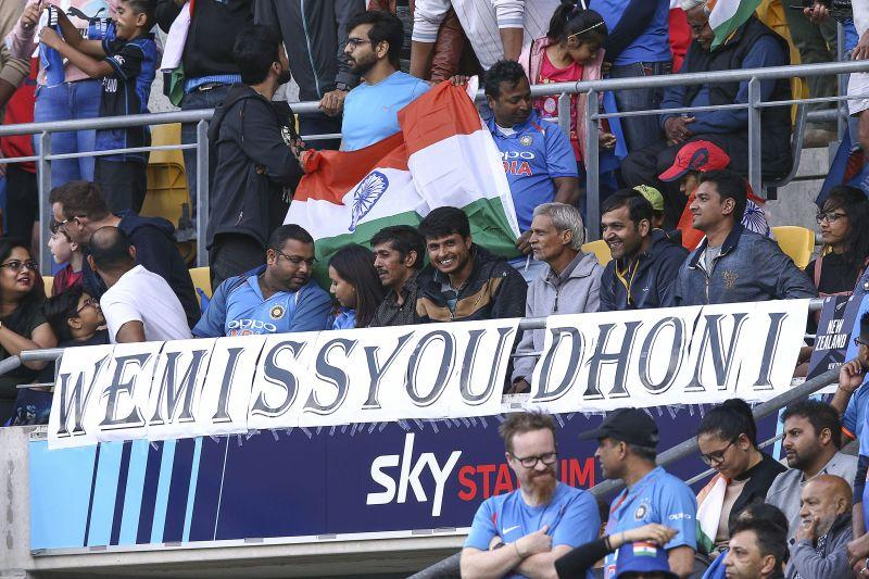 Fans in New Zealand clearly missed MSD in the T20Is