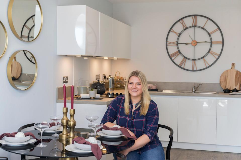 'It's a beautiful  location': Nadia  Mitchell bought  her first home at  Rochester  Riverside, where  two-bedroom flats  start at £295,000 (S Saunders / Digital Nation Photography)