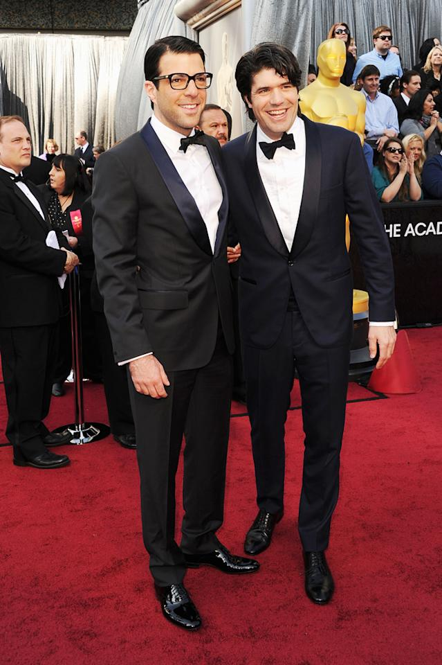 Zachary Quinto and JC Chandor arrive at the 84th Annual Academy Awards in Hollywood, CA.