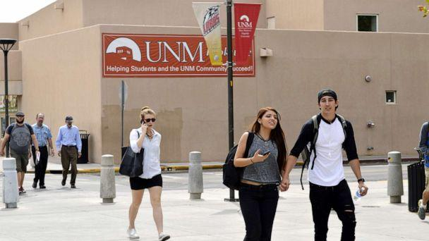 PHOTO:Students walk on the campus of the University of New Mexico in Albuquerque, Sept. 21, 2015. (Russell Contreras/AP, FILE)