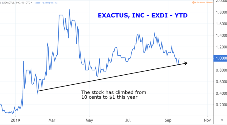 Marijuana Penny Stocks: Exactus (EXDI)