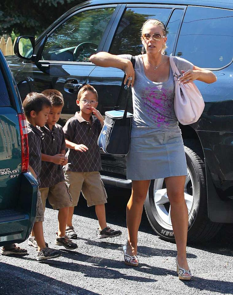 "According to <i>In Touch</i>, TLC has ""quietly canceled"" Kate Gosselin's reality series, ""Kate Plus Eight,"" after her ex-husband Jon Gosselin wouldn't allow their children to be filmed for the show. To find out whether or not the program will ultimately stay on the air, check out the exclusive dish on <a href=""http://www.gossipcop.com/kate-gosselin-plus-eight-8-show-canceled-cancelled/"" target=""new"">Gossip Cop</a>. Chris Watts/<a href=""http://www.infdaily.com"" target=""new"">INFDaily.com</a> - September 18, 2010"