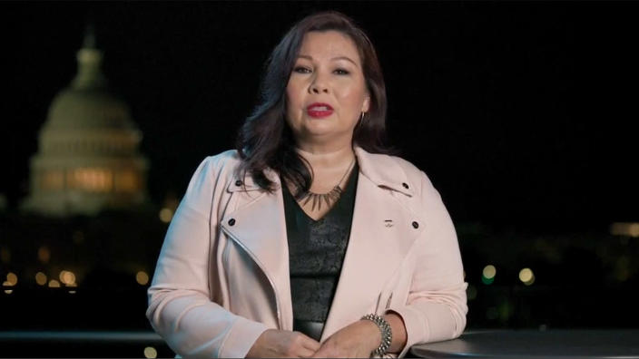 Sen. Tammy Duckworth speaks during the virtual Democratic National Convention on August 20, 2020. (via Reuters TV)