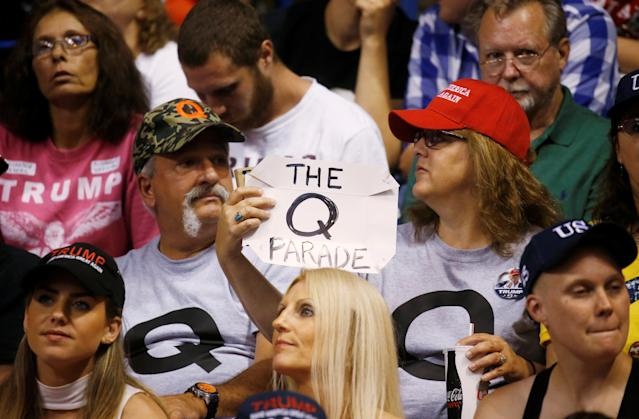 QAnon supporters are convinced that the government is working against Trump and his administration. REUTERS/Leah Millis