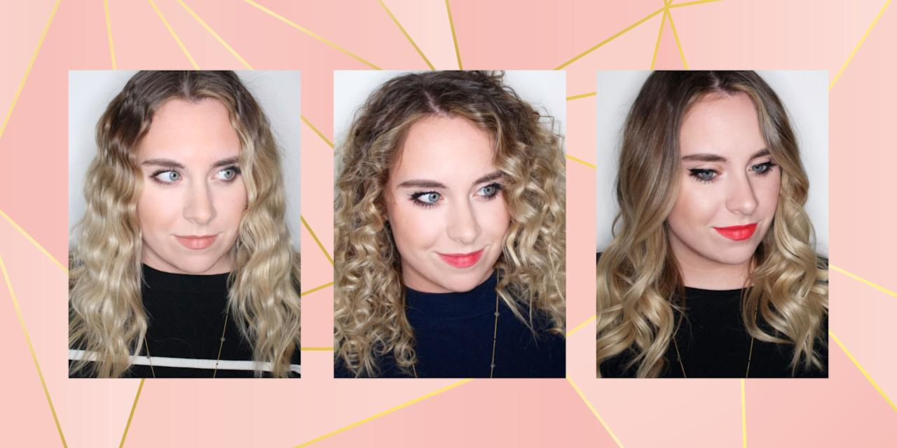 "<p>When did finding the best curling tong get <em>so</em> damn confusing? </p><p>There are countless styles of wand out there and they all give different curls; from tightly defined ringlets to loose beachy waves. But how do you know which shape wand will work for you? </p><p>Well, I've tried to take some of the mystery out of curler shopping, by showing you exactly what each style of tong/wand/styler does to the hair (or my hair, to be more precise). Because I don't know about you, but when it comes to beauty I want need visual aids. I want to see if the results are worth dropping all that hard earned cash on... </p><p>So, first things first, a bit of background info for you: I have long(ish) hair and it's kinda dry towards the ends thanks to a fading balayage. This means the mid-lengths and ends hold onto a curl really well, but the roots have a tendency to fall flat. For this experiment I tested each of the 11 curlers on freshly-washed hair, with just a misting of heat protector to prep. Here's what happened...</p><p><em>Pictures courtesy of <a rel=""nofollow"" href=""https://www.cosmopolitan.com/uk/beauty-hair/makeup/reviews/g4485/best-highlighter/"">King Of The Booth</a></em><br></p><p><em></em></p>"