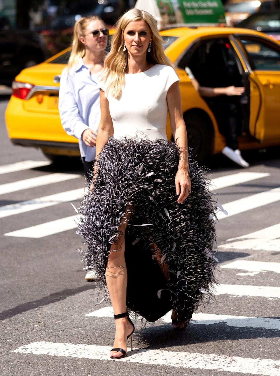 <p>Nicky Hilton looks fashionable as she shoots for the cover of <em>Avenue Magazine</em> on July 27.</p>
