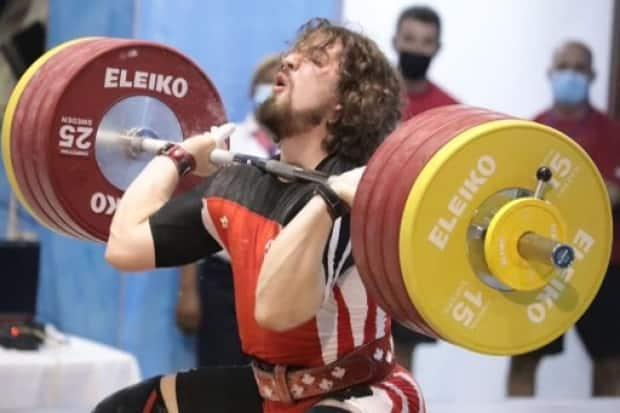 Sarnia weightlifter Boady Santavy says if he can match what he's done in other competitions, he should make it onto the Olympic podium in Tokyo. (Submitted by Boady Santavy - image credit)