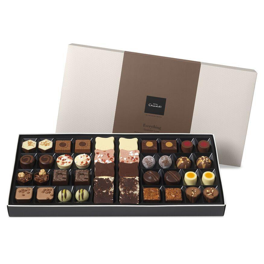 """<p><a class=""""link rapid-noclick-resp"""" href=""""https://go.skimresources.com?id=127X678080&xs=1&url=https%3A%2F%2Fwww.hotelchocolat.com%2Fuk%2Fluxe-chocolate-box-selection.html%23shownresults%3D24%26backpid%3Dluxe-chocolate-box-selection%26start%3D2"""" rel=""""nofollow noopener"""" target=""""_blank"""" data-ylk=""""slk:SHOP"""">SHOP</a></p><p>You really can't go wrong here. </p><p>£36, Hotel Chocolat</p>"""
