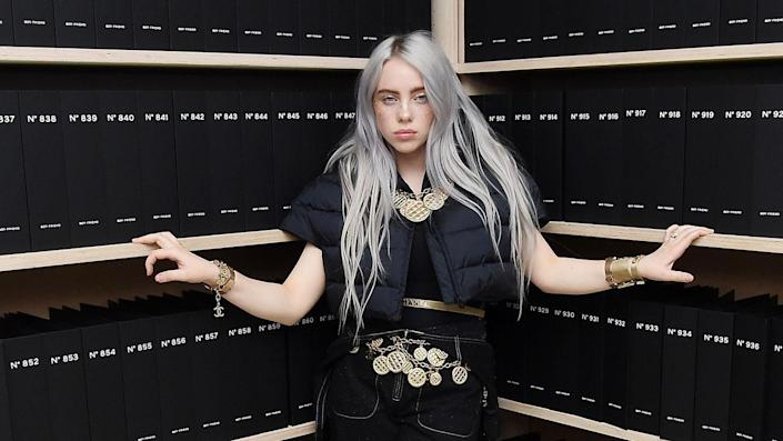 """Billie Eilish revealed she lost 100,000 followers after posting revealing images. The musician has been vocal about her 'terrible relationship' with her body in the past. <span class=""""copyright"""">Photo by Nicholas Hunt/WireImage via Getty Images</span>"""