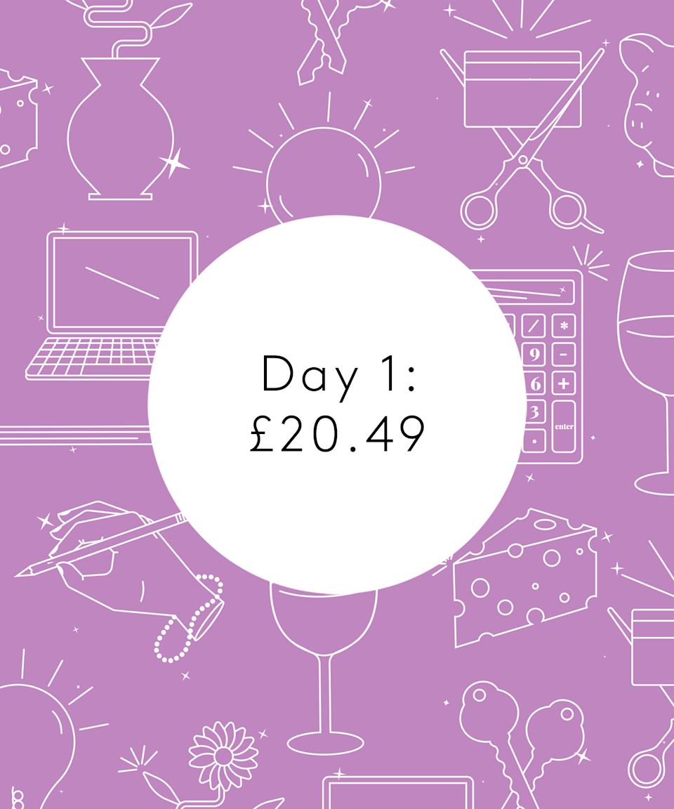 <strong>Day One</strong><br> <br>8.45am: Roll out of bed and head to the spare room where I have my yoga mat and laptop set up. I'm trying to be more proactive as I realised the past year had made me very passive and I was stuck in a bit of a rut. Stretching for 10-20 minutes a day makes me feel very in control and kickass – and Yoga with Adriene really centres me. <br> <br>9.15am: Eat my breakfast with M. My brother gifted me chocolate peanut butter for Christmas (an Irish brand called Harry's Nut Butter – unreal) so stick some on porridge with banana. And the obligatory coffee too. Double-check the shopping list app we use, stick a few more things on it and M heads out to do the shop. We're trying to keep our food budget on track as we both tend to really want to treat ourselves here. I potter about once he's gone, doing the washing up, putting a wash on and doing a little tidy. We used to have a cleaner pre-pandemic, when our work schedules were far more intense. I miss the amazing deep cleans they used to do, I just can't replicate it. But with more time on our hands now, it's not a justifiable expense. <br> <br>10.15am: Check in on my seed babies growing on a sunny windowsill. This is a daily occurrence for me, the excitement of seeing them pop up and grow is second to none. Currently I have tomatoes, parsley, chives, coriander, peppers and cucumber all planted up. <br> <br>11am: After a shower and some personal admin, M comes home from the shop. I help him unpack. He is chuffed with his cheap beer purchase for the weekend – a few one-litre bottles for 63 cents (54p) each! We would normally buy some nicer (and more expensive) 33cl beers but you can't beat this cheap price when you're trying to save. We'll see if they provoke a nasty hangover... Unpack the rest, mostly veggies and fruit. €47.50 (£40.98) from joint account, €23.75 (£20.49) for my half. <br> <br>12.45pm: I head to work. My schedule is a little unusual – I teach until 8 or 10pm so I start late. Enj