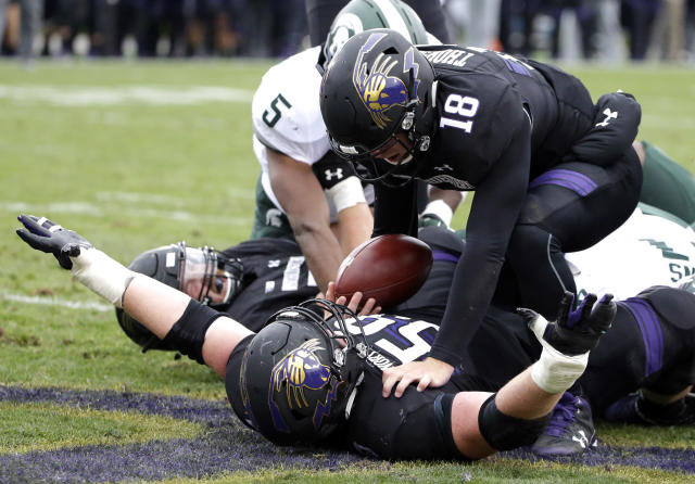 Northwestern earned its third-straight win as it stunned No. 16 Michigan State on Saturday. (AP)