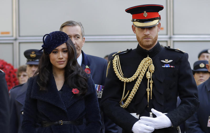 prince harry meghan markle lay crosses at the field of remembrance yahoo money