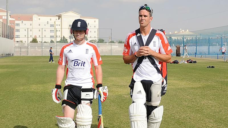 Eoin Morgan has ruled out a possible World T20 recall for Kevin Pietersen, who then questioned the England captain's selection authority.