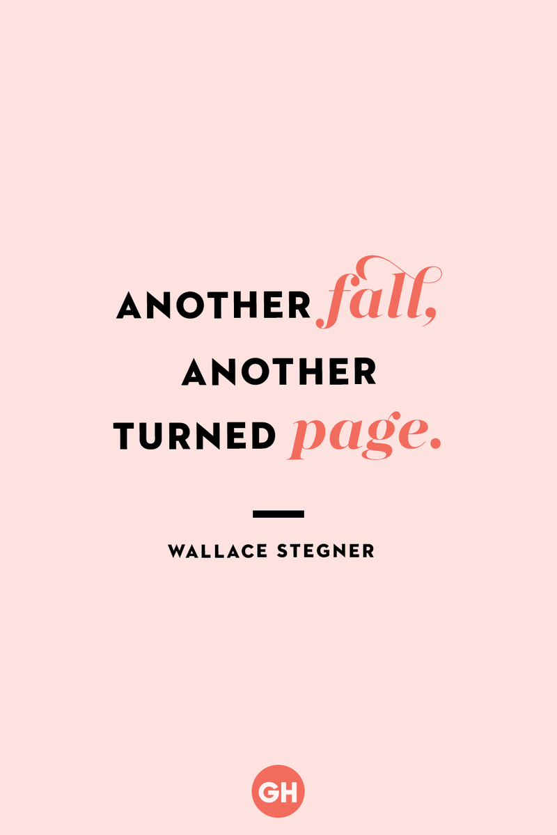 <p>Another fall, another turned page.</p>